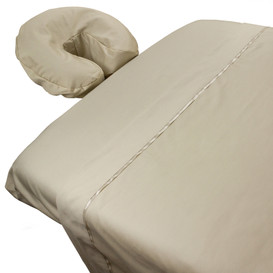 serenity 100 cotton combed percale massage sheet set